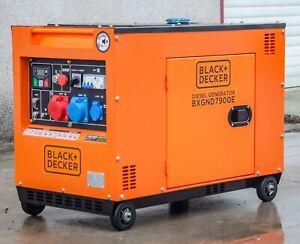 8 KVA Diesel  Black + Decker Stromerzeuger Stromaggregat BXGND7900E 230&400 V