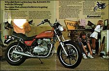 1980 Kawasaki KZ440LTD Motorcycle cheerleader vintage photo print ad ads9