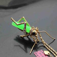 Locust Pendant Sweater Necklace A634G Betsey Johnson Crystal Elephant