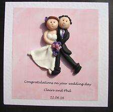 Wedding DAY Congratulazioni Card/ricordo personalizzato con HOT impasto Creations