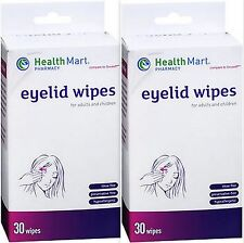 Health Mart Eyelid Wipes (compare to Soft Lid Scrub) 30 Wipes (2 pack)