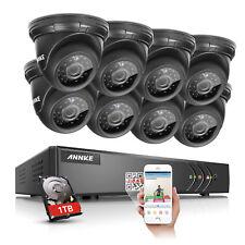 ANNKE 8CH 1080P TVI DVR Video 2000TVL Wired Home CCTV Security Camera System 1TB
