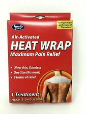 Family Care Air-Activated Heat Wrap Maximum Pain Relief 1pc for Neck & Shoulder