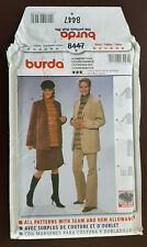 Burda-8447 Maternity Jacket Skirt Pants Sewing Pattern Size10 to Plus Size 20 UC