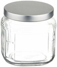 - NEW - Anchor Hocking Cracker Jar with Brushed Aluminium