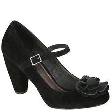 STYLIST PICK 'DAISY' WOMEN'S COURT SHOE - BLACK SIZE UK 3 BRAND NEW £21.99