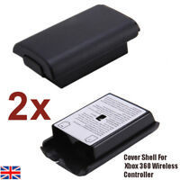 2x Black Battery Holder Pack Shell Cover For Xbox 360 Wireless Controller UK