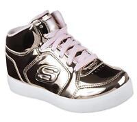 Skechers Kids' Energy Lights-Dance-n-Dazzle Sneaker, Rose Gold, Size  43V4