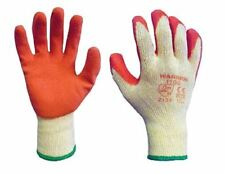 12 Pairs Warrior Latex Coated Rubber Grip Palm Safety Builders Work Gloves 8 M