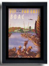 More details for boac fly to the far east short s25 sandringham repro poster rowland hilder 1948