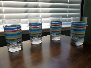 Fiesta 7 oz. Striped Juice Glasses Set of 4 Fiestaware