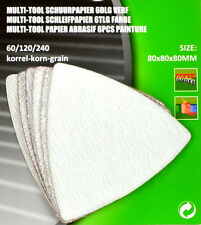 Schleifpapier Schleifscheiben Delta  Dreieckschleifpapier-80mm  f. Multitool FL