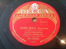 78 RPM LOUIS ARMSTRONG - Jodie Man - DECCA BM 03593