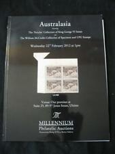 MILLENIUM AUCTION CATALOGUE 2012 AUSTRALASIA GEORGE VI 'PERICLES' & SPECIMEN UPU