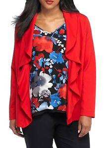 THE LIMITED® Plus Size 1X, 2X Ruffle Ponte Jacket NWT $129