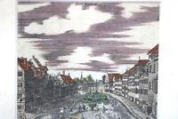 Kupferstich altkoloriert Nürnberg der Neue Bau um 1750