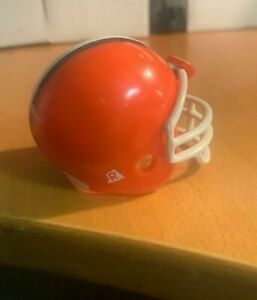 Riddell pocket pro football helmet Cleveland Browns TRADITIONAL white facemask