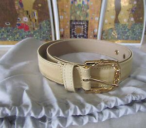Authentic EMILIO PUCCI Leather Trim&Canvas Belt with buckle IT 46,US 10-12/L-XL