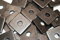 (10) Plain Steel 3/4 x 2-3/4 Square Plate Washers 5/16 Thick Unplated