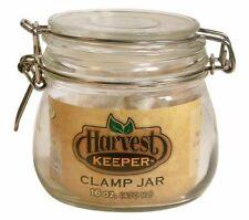 Harvest Keeper 744330 Glass Storage Jar with Metal Clamp Lid, 16 oz