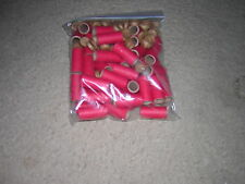 "LOT OF 50 NEW 1-1/2 X 9/16 X1/16"" RED FIREWORKS TUBES + PLUGS PYRO PAPER"
