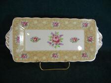 "Royal Albert Devonshire Lace 10 3/4"" Handled Rectangular Sandwich Tray"