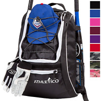Athletico Baseball Bat Bag - Backpack for Baseball, T-Ball & Softball Equipment