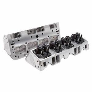 Edelbrock 5073 Small-Block Chevy E-Street Cylinder Head 70cc Pair