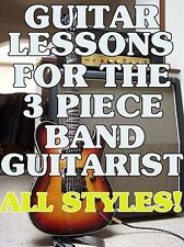 Guitar Lessons For The 3 Piece Band Guitarist. DVD Licks To Keep The Sound FAT!