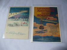 Vintage Two Zeppelin Post Cards One Easter And One Air Show Forschach