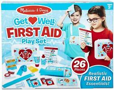 Melissa & Doug Get Well First Aid Kit Play Set (25 Pieces) BRAND NEW DAMAGED BOX