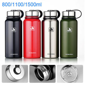Double Walled Vacuum Insulated Water Bottle Stainless Steel Water Drink Bottle