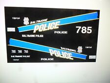 Baltimore Maryland  Police Patrol  Vehicle Decals 1:24