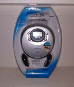 New Factory Sealed Craig CD2808 Portable Silver CD Player