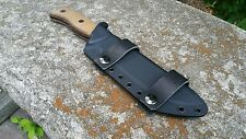 ONTARIO RAT-7 Custom kydex sheath in Black and Black leather IWB loops