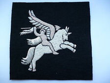 AIRBORNE FORCES PEGASUS BLAZER BADGE. (BLACK BACKING)