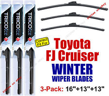 WINTER Wipers 3pk Super-Premium - fit 2007-2014 Toyota FJ Cruiser - 35160+130x2