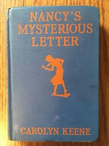 Nancy's Mysterious Letter by Carolyn Keene 1932 Vintage Nancy Drew Novel Book