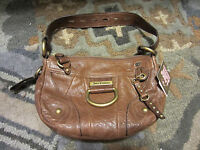 NWT JUICY COUTURE BROWN LEATHER BACARDI SMALL HOBO PURSE HANDBAG BAG YHRU1541
