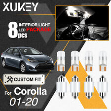 XUKEY Car LED Interior Light Dome Map Cargo Lights Pack For Toyota Corolla 01-19