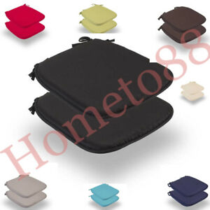 REMOVABLE CHAIR SEAT PADS WITH TIES OFFICE HOME GARDEN USE 38CMX38CM+3CM