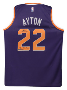 """DEANDRE AYTON Signed & Inscribed """"Time To Rise"""" Swingman Jersey STEINER LE 22"""