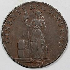 1795 Breen-1035 Lettered Edge T. A. L. Colonial Copper Coin