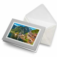 Greetings Card (Grey) - Hallstatt Austrian Alps  #12560