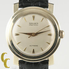 Vintage Gruen 10k Gold Filled Precision Autowind Automatic Watch Gift for Him!