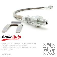STAINLESS BRAIDED BRAKE HOSE REAR DIFF [HOLDEN LC-LJ TORANA 6-CYL & GTR-XU1] SL