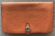 Authentic Hermes Dogon Wallet In Orange