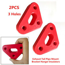 2× 3Holes Rubber SUV Car Exhaust Tail Pipe Mount Bracket Hanger Insulators Solid