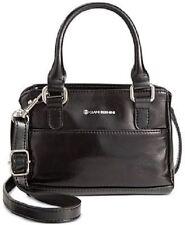 NEW!  Giani Bernini ~ Glazed Mini Boxy Satchel Bag ~ Black ~ NWT!