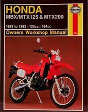 Haynes Manual 1132 - Honda MBX125, MTX125 & MTX200 (83 - 93) workshop/service